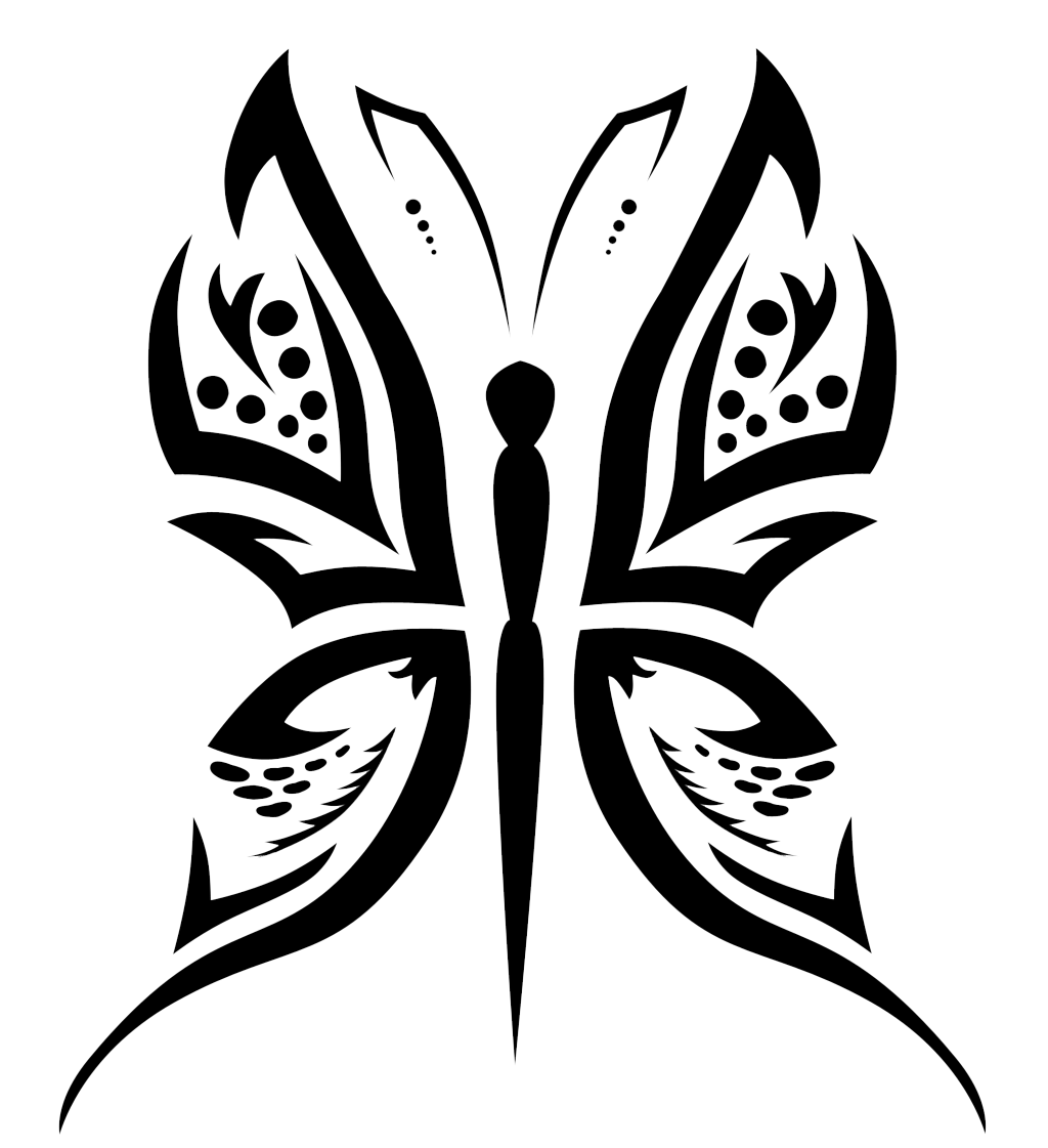 Cat tattoo clipart clipart transparent Butterfly Tattoo Designs PNG Transparent Free Images | PNG Only clipart transparent