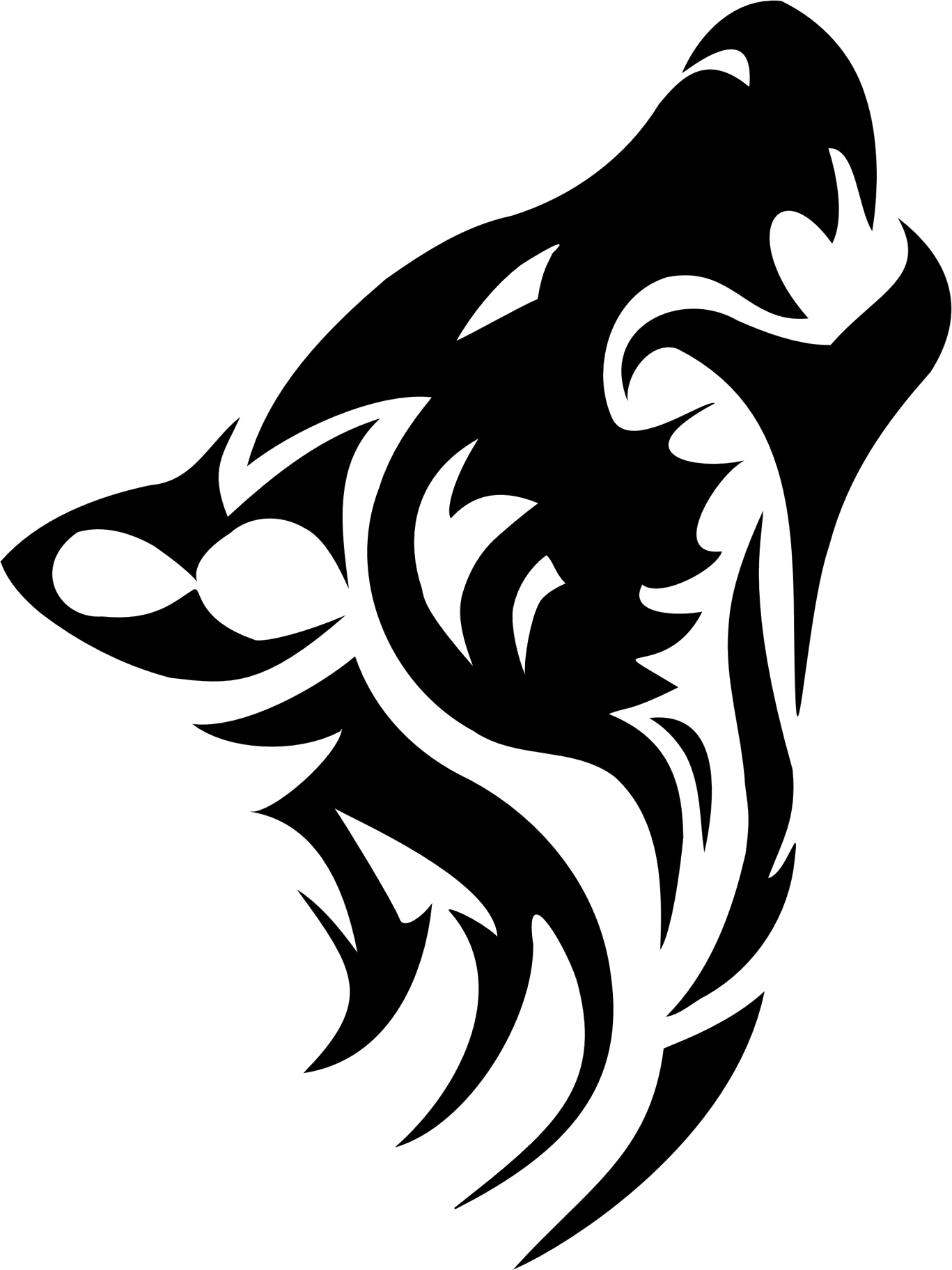 Cat tattoo clipart graphic black and white download Wolf Tattoos PNG Transparent Images | PNG All | Wolves | Pinterest ... graphic black and white download
