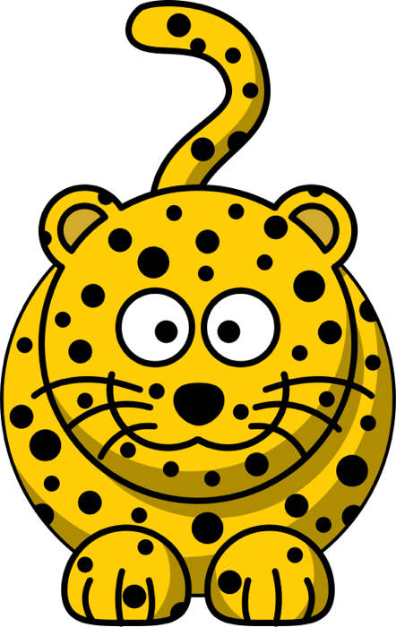 Yellow cat clipart graphic free stock Free Clipart of Jungle Cats graphic free stock