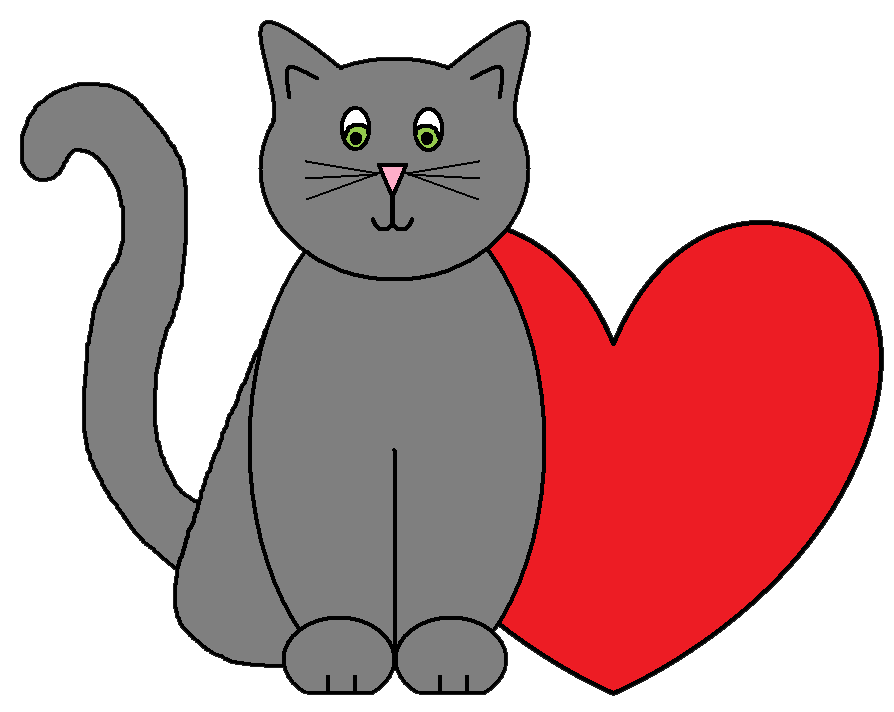 Cat valentine clipart