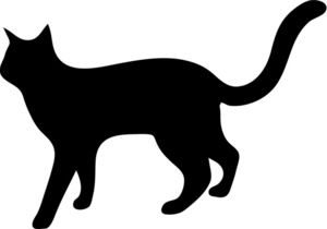 Cat walk clipart svg free download Free Cat Clip Art Image: Silhouette of a Kitty Cat Walking | clip ... svg free download