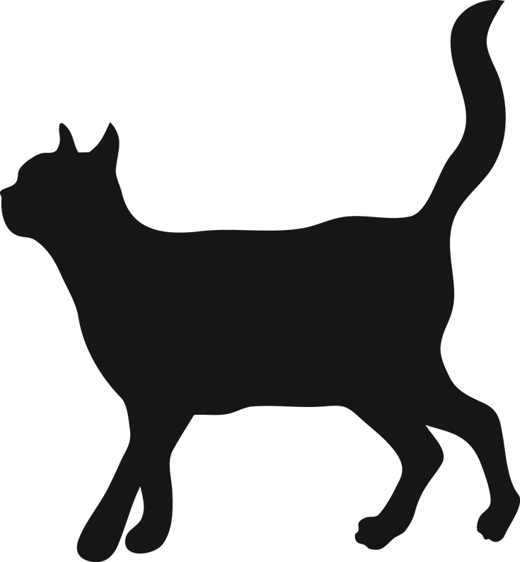 Cat walking clipart banner transparent stock Cat Walking Silhouette at GetDrawings.com | Free for personal use ... banner transparent stock