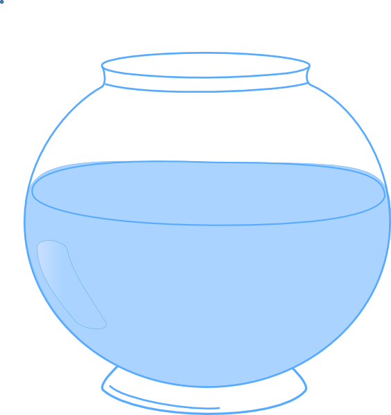 Fish bowl with water clipart