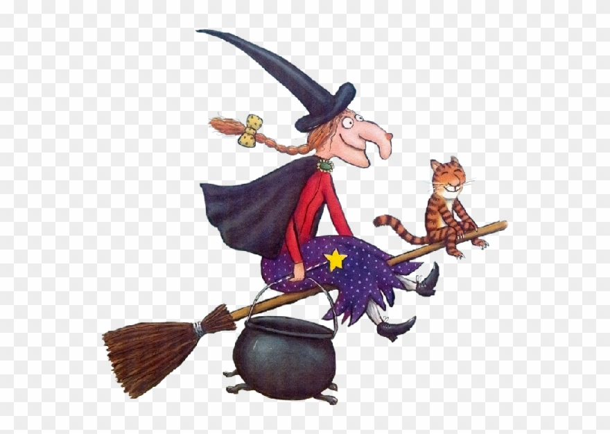 Cat with broom clipart clipart library Witch With Cat - Room On The Broom Book Pages Clipart (#547820 ... clipart library