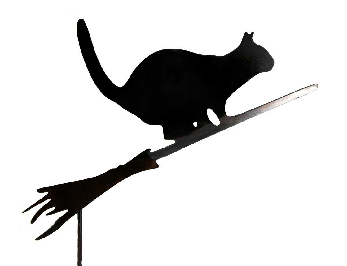 Cat with broom clipart png download cat on a broom png download