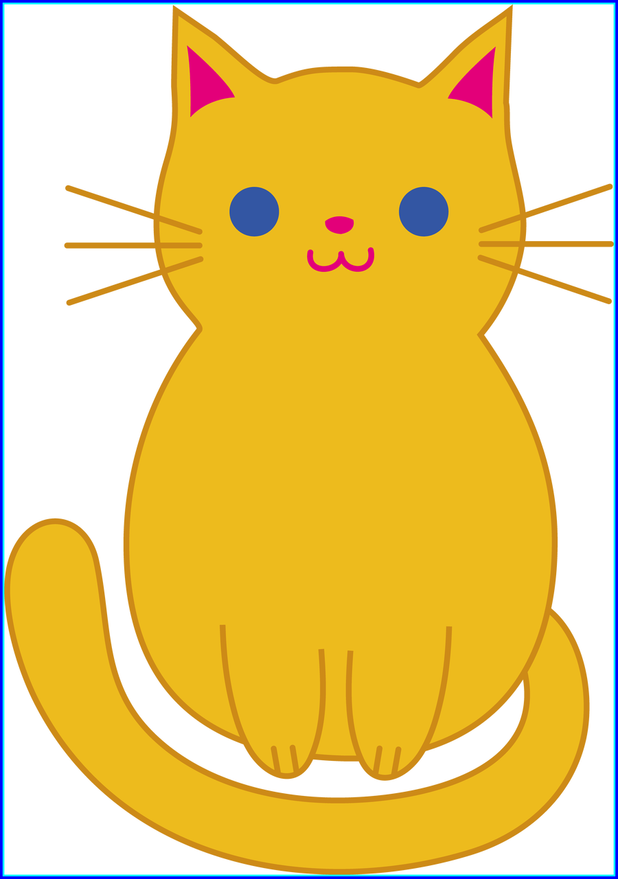 Kawaii clipart cat graphic library Best Fat Cat Clip Art Cute Orange Kitten Picture For Dog And Cartoon ... graphic library