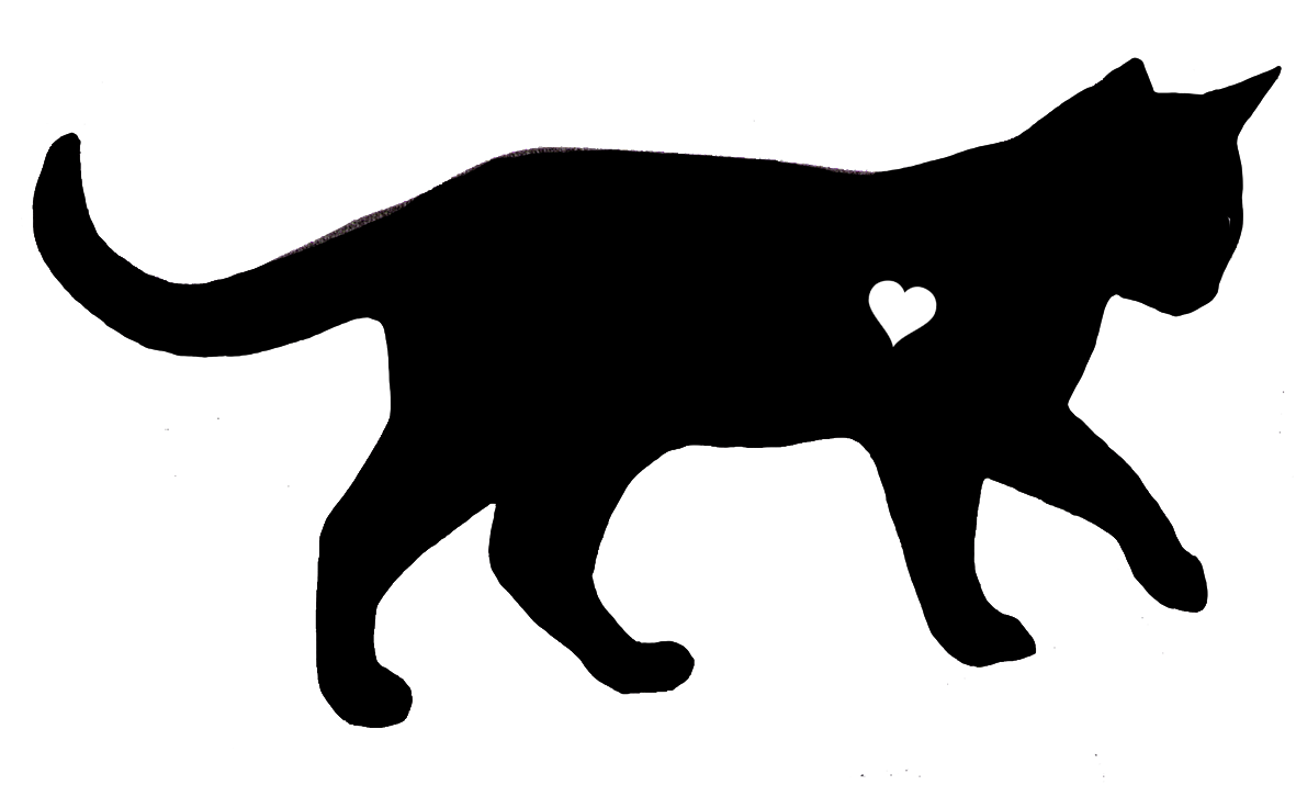 Cat with heart clipart clip art transparent library Black cat with heart silhouette clip art | Pet Clip Art | Cat ... clip art transparent library