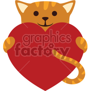 Cat with heart clipart picture transparent cat holding big heart no background clipart. Royalty-free clipart # 407594 picture transparent