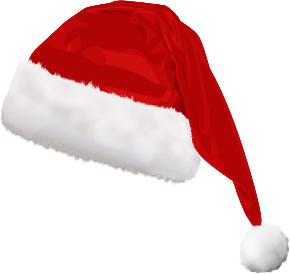 Cat with santa hat clipart clip black and white Christmas Hat PNG Images – Why We Wear Christmas Hat? | PNG Only clip black and white