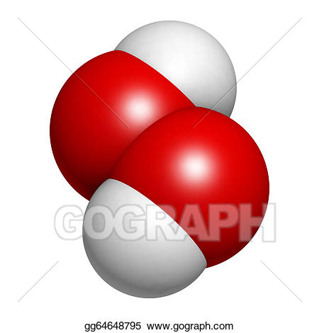 Catalase clipart picture transparent download Stock Illustration - Hydrogen peroxide (h2o2) molecule. Clipart ... picture transparent download
