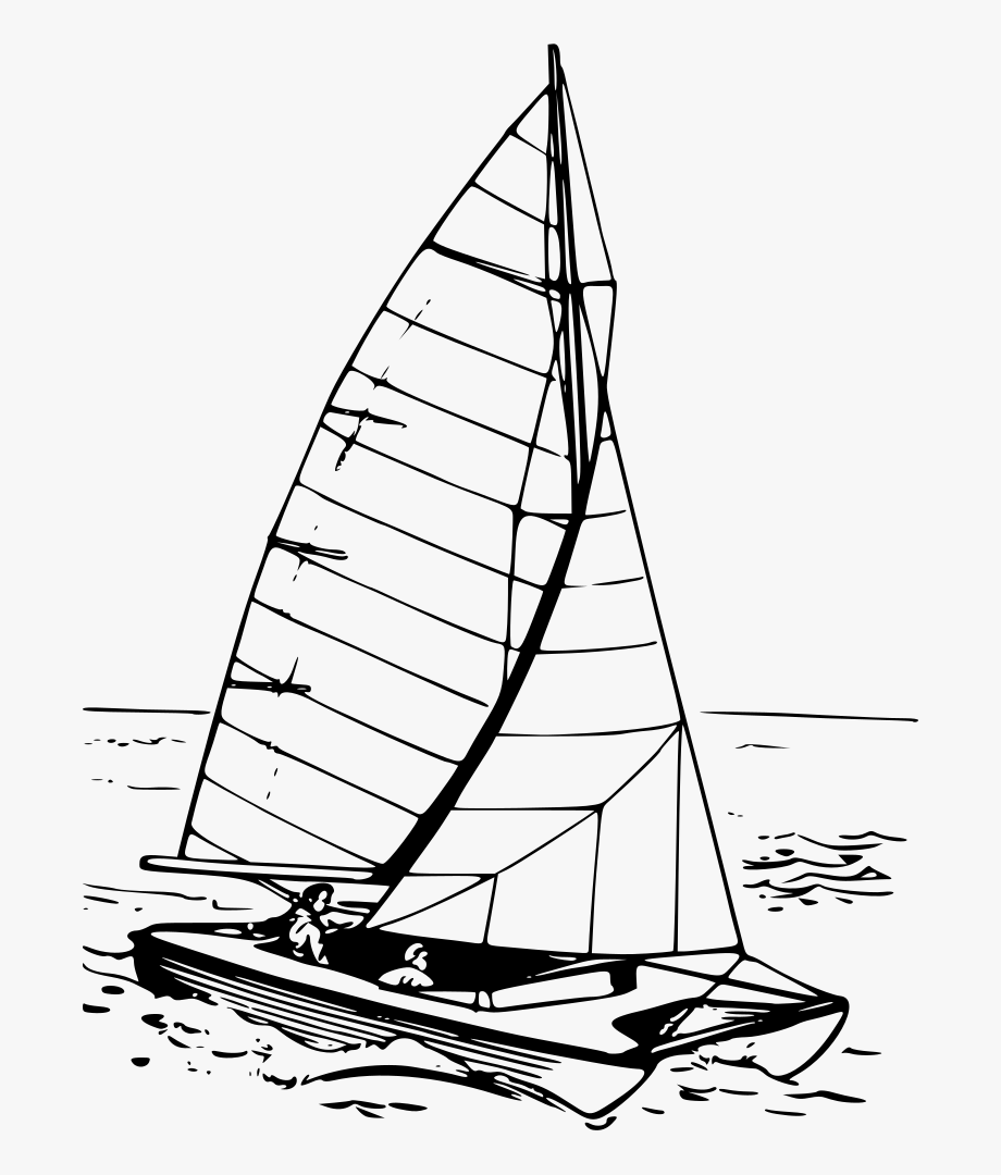 Catamaran clipart