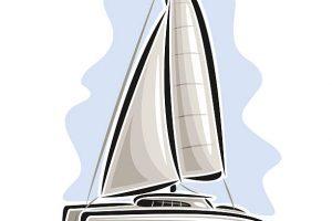 Catamaran clipart 8 » Clipart Portal vector freeuse download