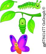 Caterpillar Butterfly Clip Art - Royalty Free - GoGraph png library library