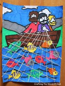 Peter and the fisherman - wonderful bible craft | Bible | Bible ... clip free