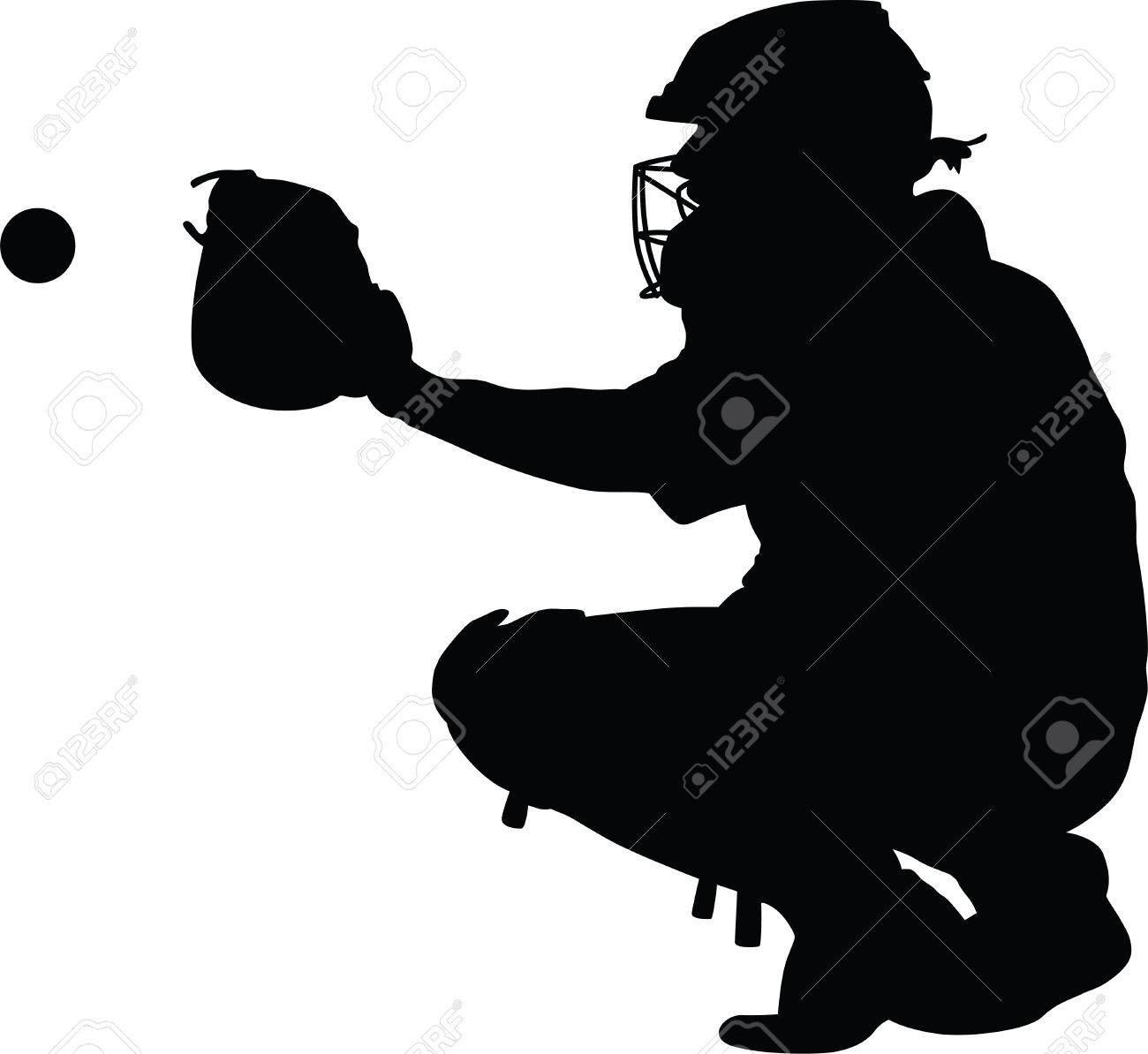 Baseball catcher clipart 4 » Clipart Station graphic free library