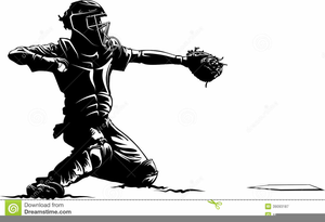 Cather clipart banner free library Free Baseball Catcher Clipart | Free Images at Clker.com - vector ... banner free library
