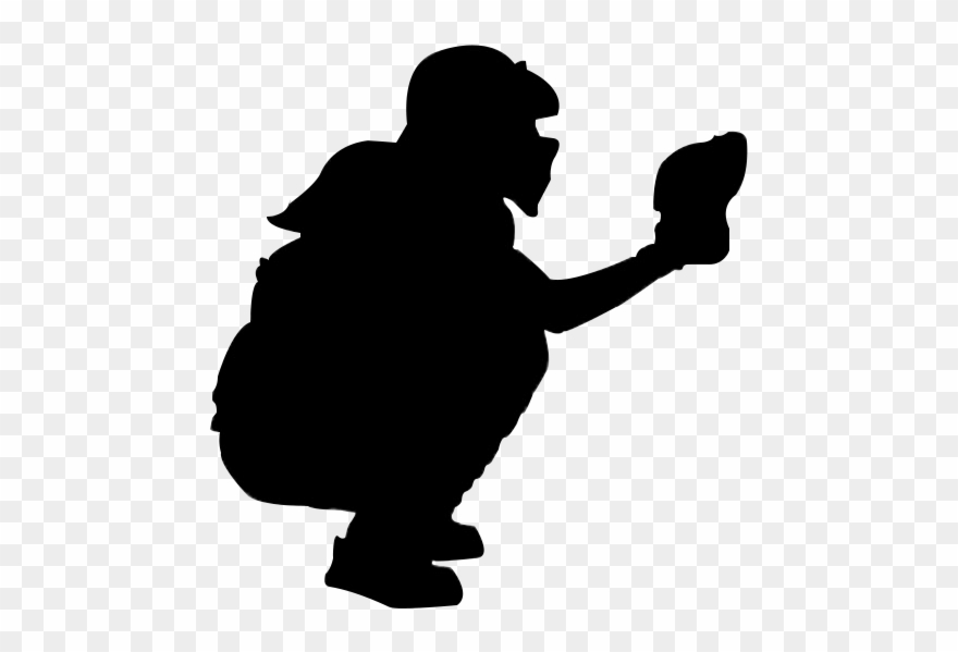 Catchers clipart jpg transparent Jpg Black And White Download Catcher Silhouette At - Black And White ... jpg transparent