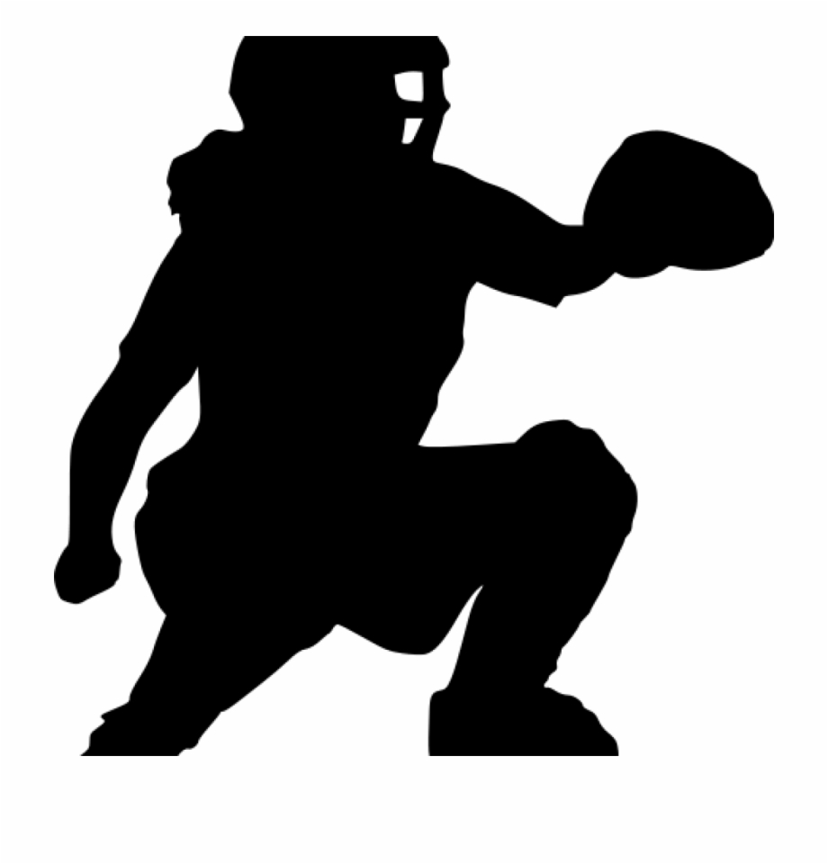 Cather clipart clip Softball Silhouette Clip - Silhouette Softball Catcher Clipart ... clip