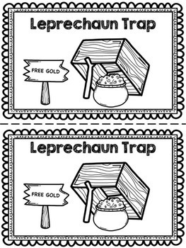 Catching a leprechaun clipart black and white png royalty free stock Leprechaun Trap! Emergent Reader & Centers png royalty free stock