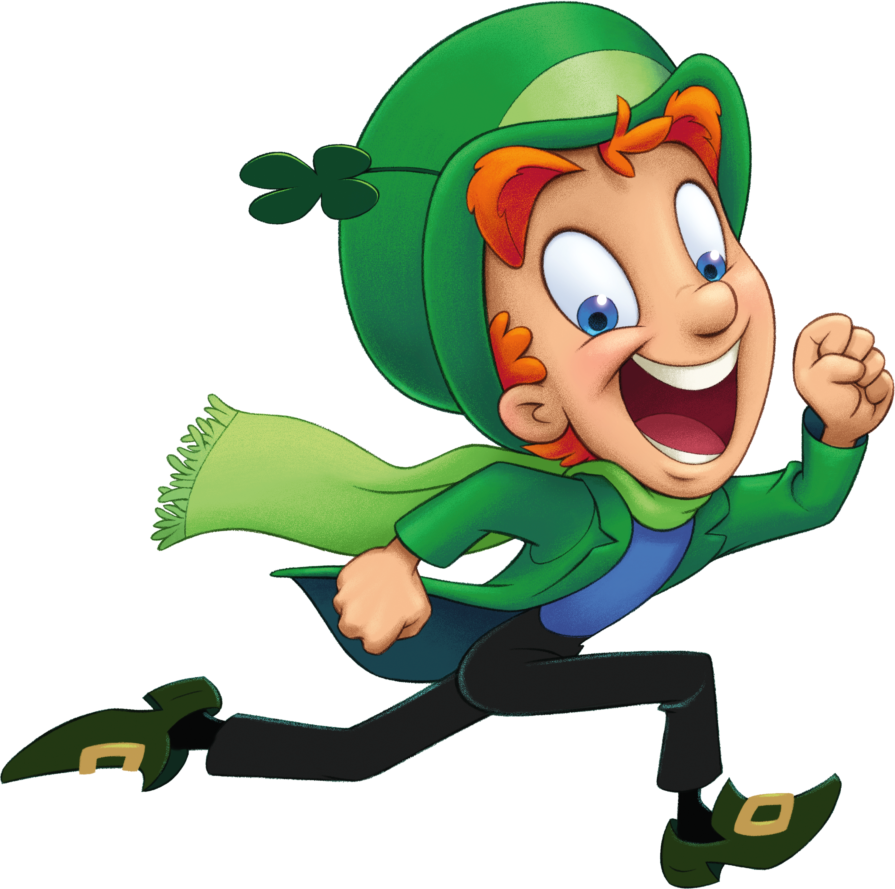 Catching a leprechaun clipart black and white clip Print out Lucky the Leprechaun to add to your St. Patrick\'s Day ... clip