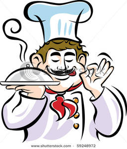 Catering chef clipart. Picture a making gesture