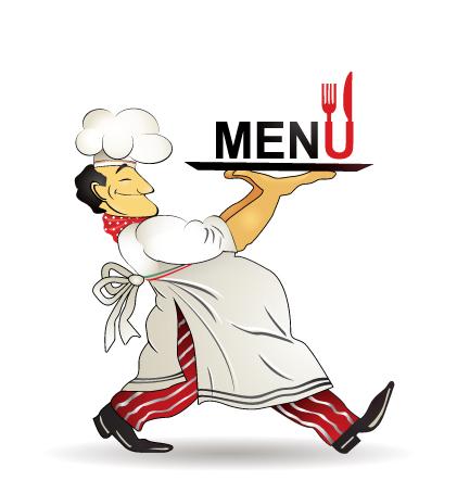 Keyword menu vector dsfthl. Catering chef clipart