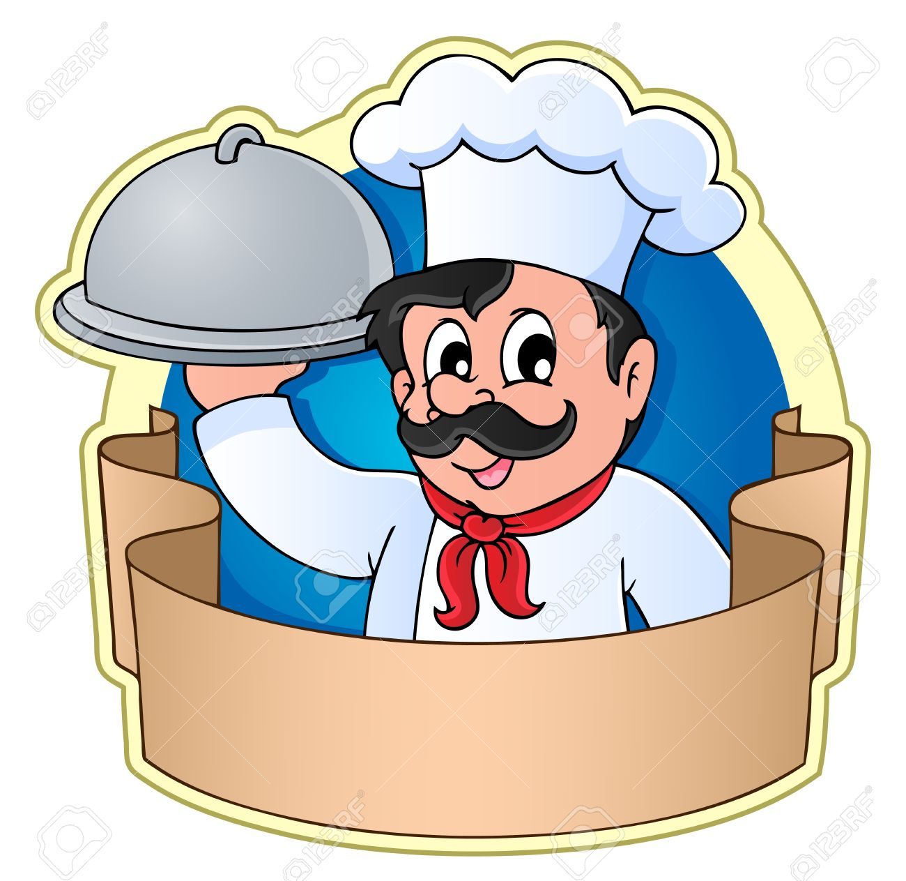 Catering chef clipart. Theme image vector illustration