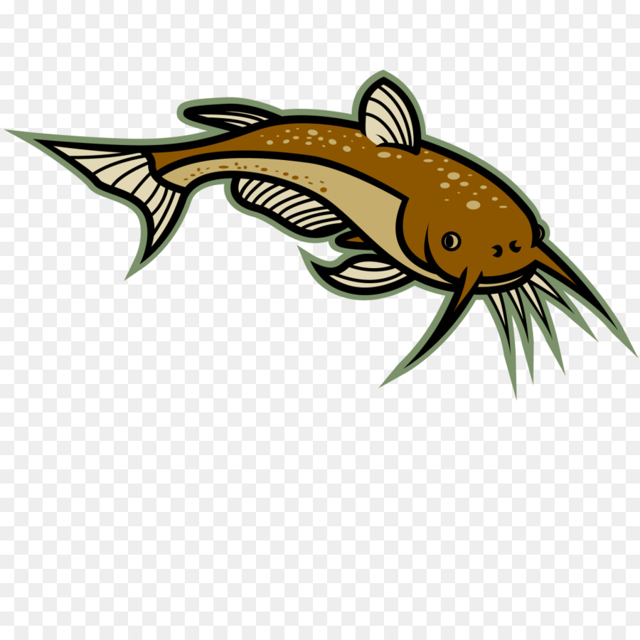 Catfish logo clipart picture freeuse stock Fish Cartoon png download - 1024*1024 - Free Transparent Catfish png ... picture freeuse stock