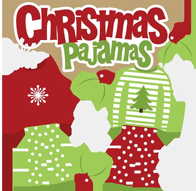 Christmas pajama party clipart