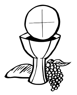 Eucharist Clipart | Free download best Eucharist Clipart on ... banner black and white stock