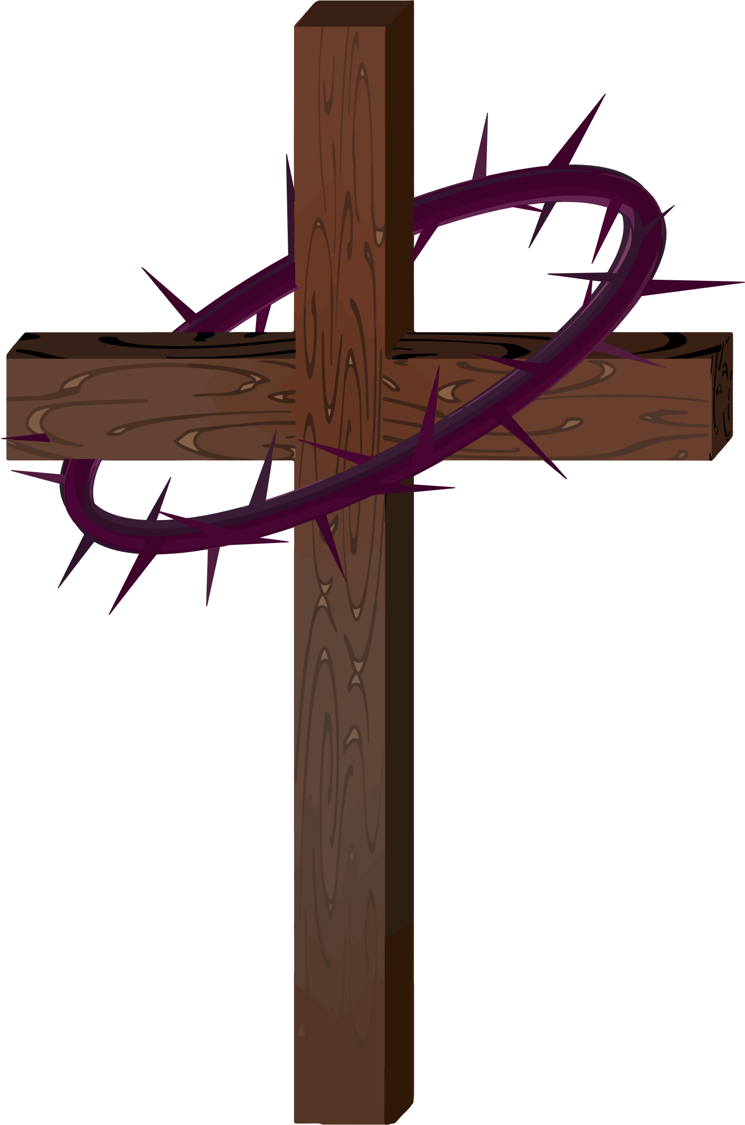 Catholic clipart of the crown of thorns and cross graphic free download Clipart - Cross With Crown Of Thorns graphic free download