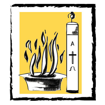 Catholic easter vigil clipart clip art freeuse download Easter Vigil (w/Catechumens) with reception following in the hall ... clip art freeuse download