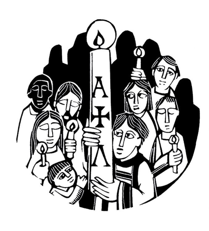 Catholic easter vigil clipart jpg Easter Vigil / Holy Saturday Catholic Coloring Page for the Easter ... jpg
