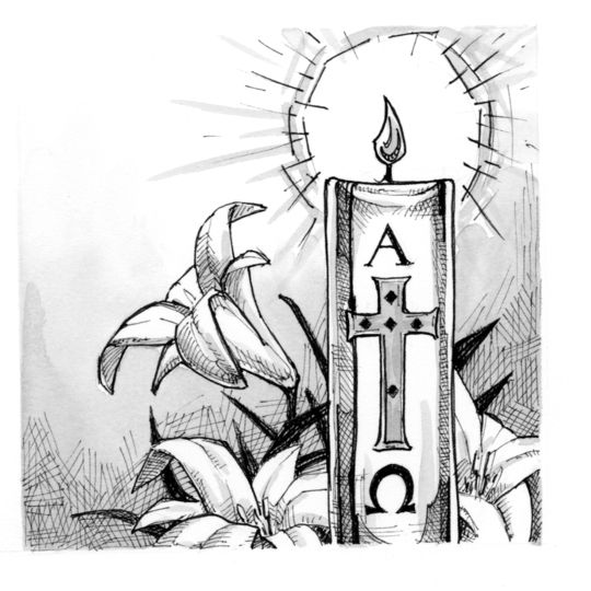 Catholic easter vigil clipart graphic library Signs and Symbols: Paschal Candle | Saint Mary\'s Press | Roman ... graphic library