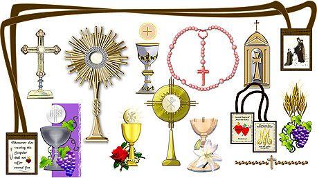 Catholic sacrament clipart picture library download Details about Eucharist Communion Catholic Clipart Designs Images CD ... picture library download