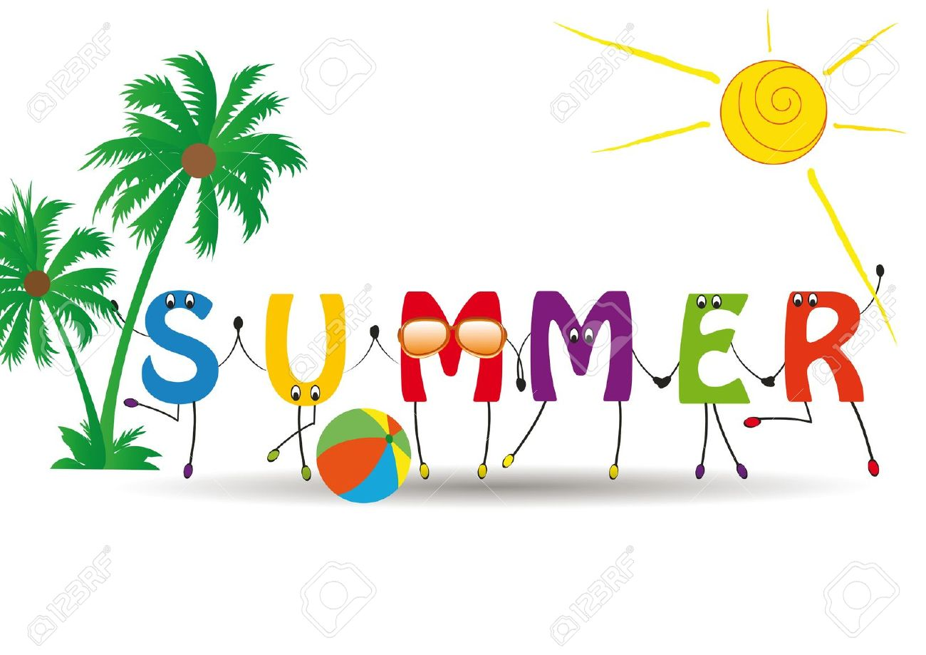 Catholic summer clipart picture royalty free stock summer-clipart-word-summer-with-colorful-and-funny-letters-royalty ... picture royalty free stock
