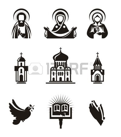 Catholic useable clipart graphic library library Stock Vector | Religious Lesson Ideas | Christian symbols, Bullet ... graphic library library
