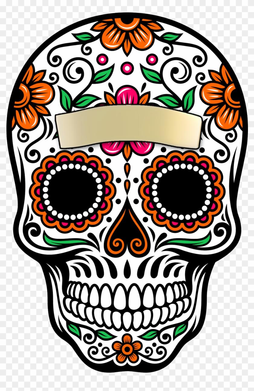 Skull La Calavera Catrina Dead Paper Of Clipart - Day Of The Dead ... black and white stock