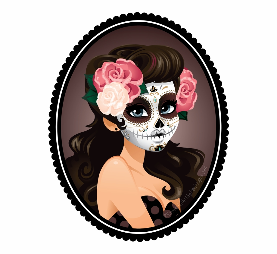 Tattoo Art Skull La Calavera Catrina Dead Clipart - Sugar Skull Girl ... graphic royalty free download