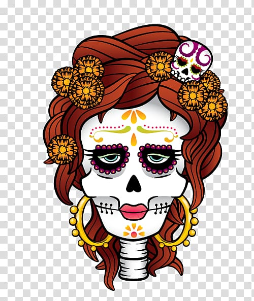 Catrino clipart transparent stock La Calavera Catrina Day of the Dead Death, others transparent ... transparent stock