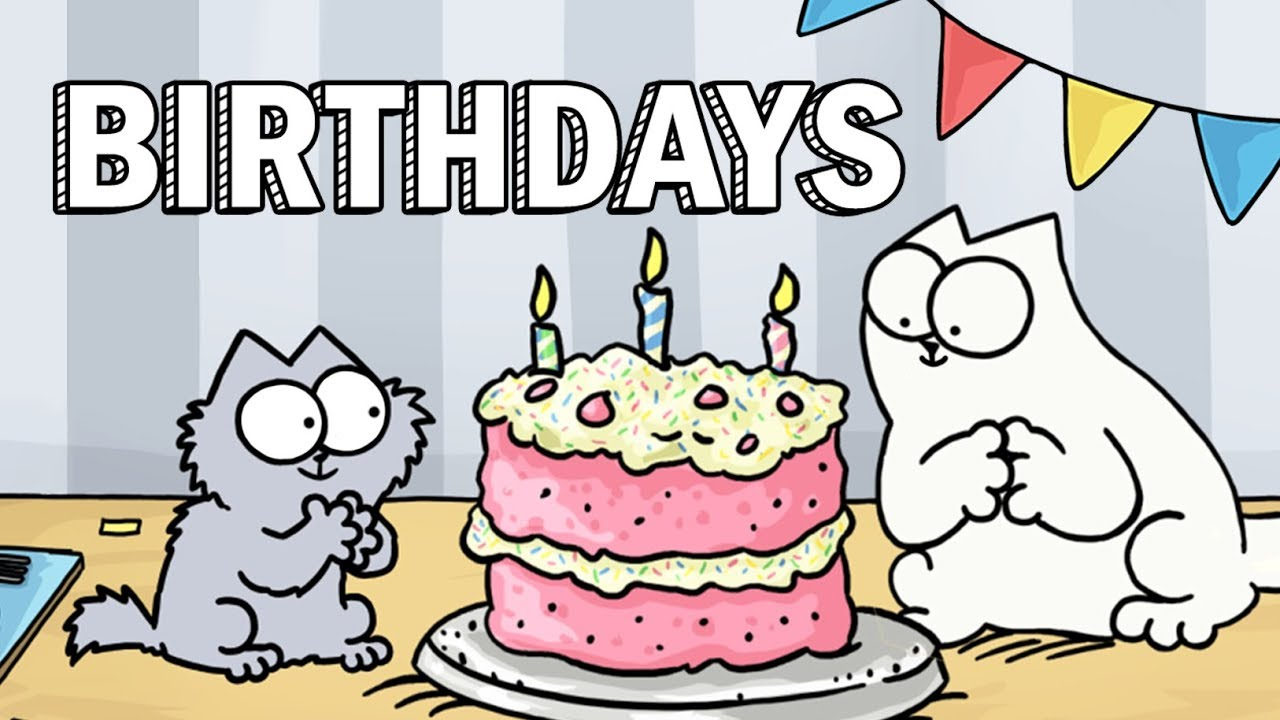 Cats birthday clipart banner transparent download Birthdays - Simon\'s Cat | GUIDE TO banner transparent download