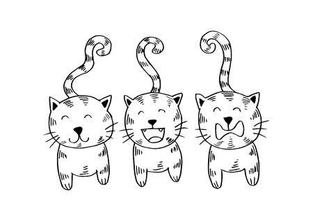 Cats clipart black and white picture royalty free library Three cats clipart black and white 2 » Clipart Portal picture royalty free library