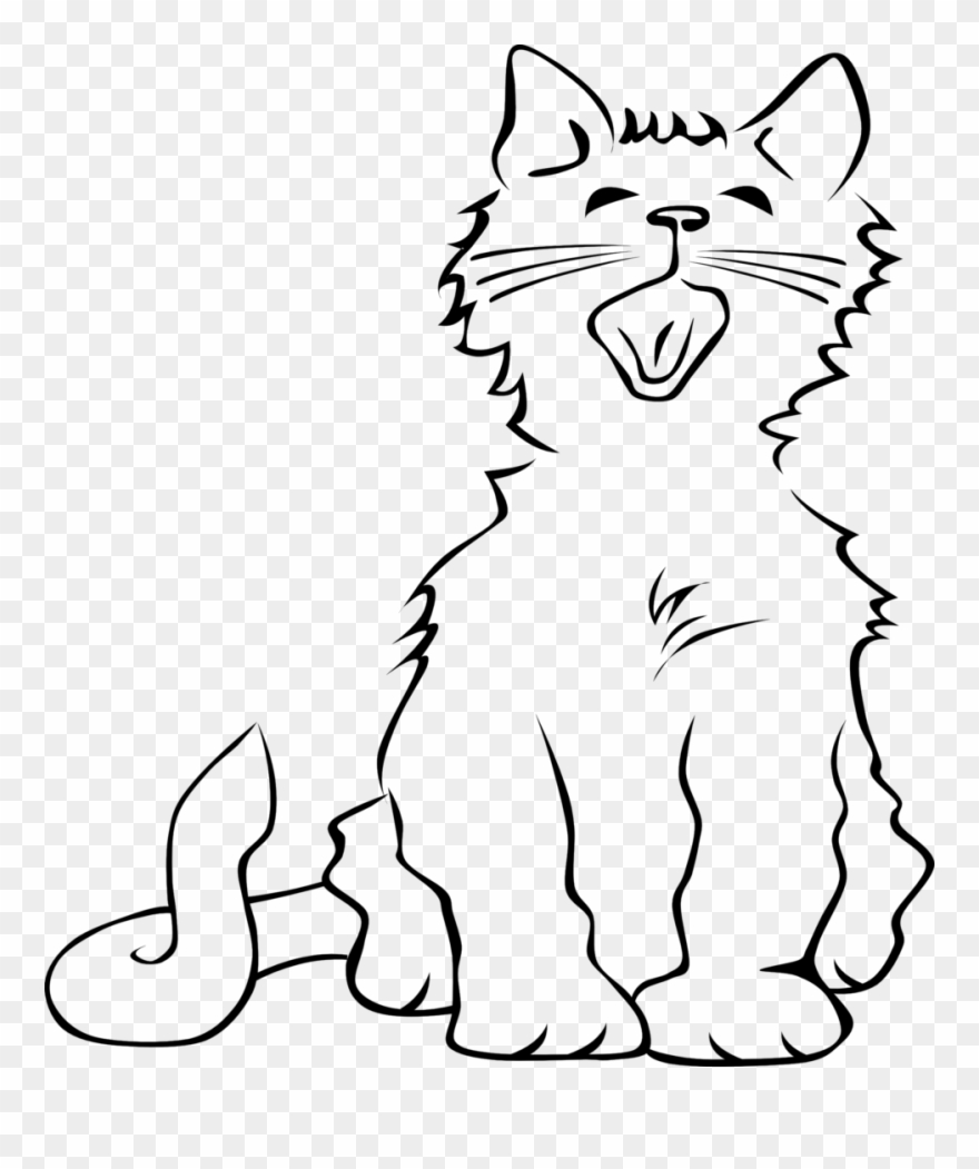 Cats meowing clipart clipart free download 48 Best Cute Cat Clip Art Images Black And White Clip - Cat Meowing ... clipart free download