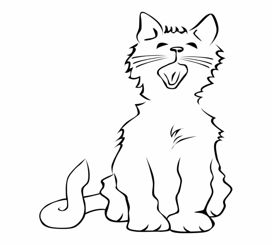 Cats meowing clipart jpg Kitten Meow Norwegian Forest Cat Drawing Download - Cat Clipart ... jpg