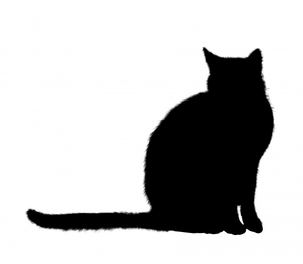 Catsilhouette clipart jpg free library Cat Silhouette Sitting Clipart Free Stock Photo - Public Domain Pictures jpg free library