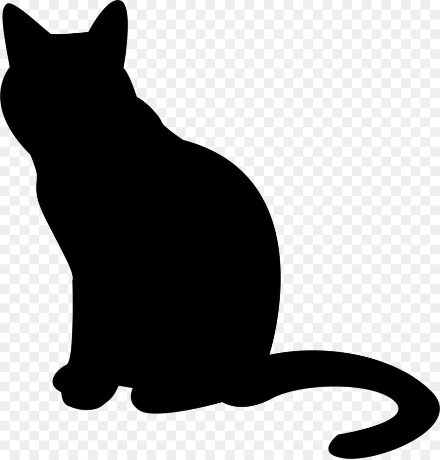 Kitten Cartoon clipart - Cat, Kitten, Silhouette, transparent clip art svg black and white library