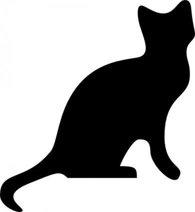 Cat Silhouette Clip Art & Look At Clip Art Images - ClipartLook image stock