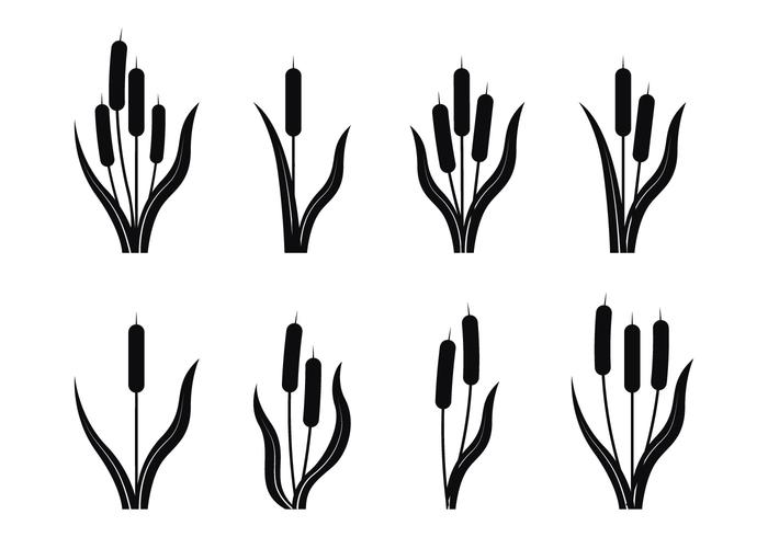 Cattails silhouette clipart svg royalty free stock Cattails Silhouette Vector - Download Free Vector Art, Stock ... svg royalty free stock