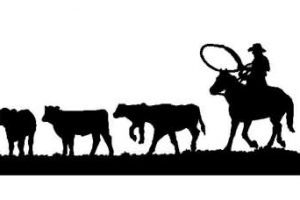 Cattle drive black and white clipart free freeuse download Cattle Drive Clipart – 2.000.000 Cool Cliparts, Stock Vector And ... freeuse download