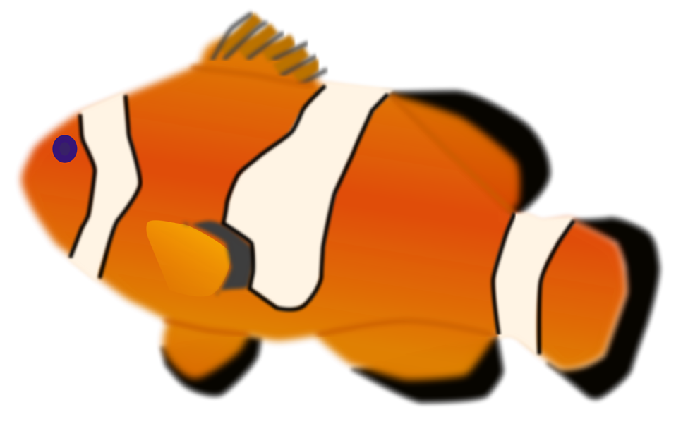 Fish jumping out of water clipart png black and white Fish | Free Stock Photo | Illustration of a orange fish | # 16752 png black and white